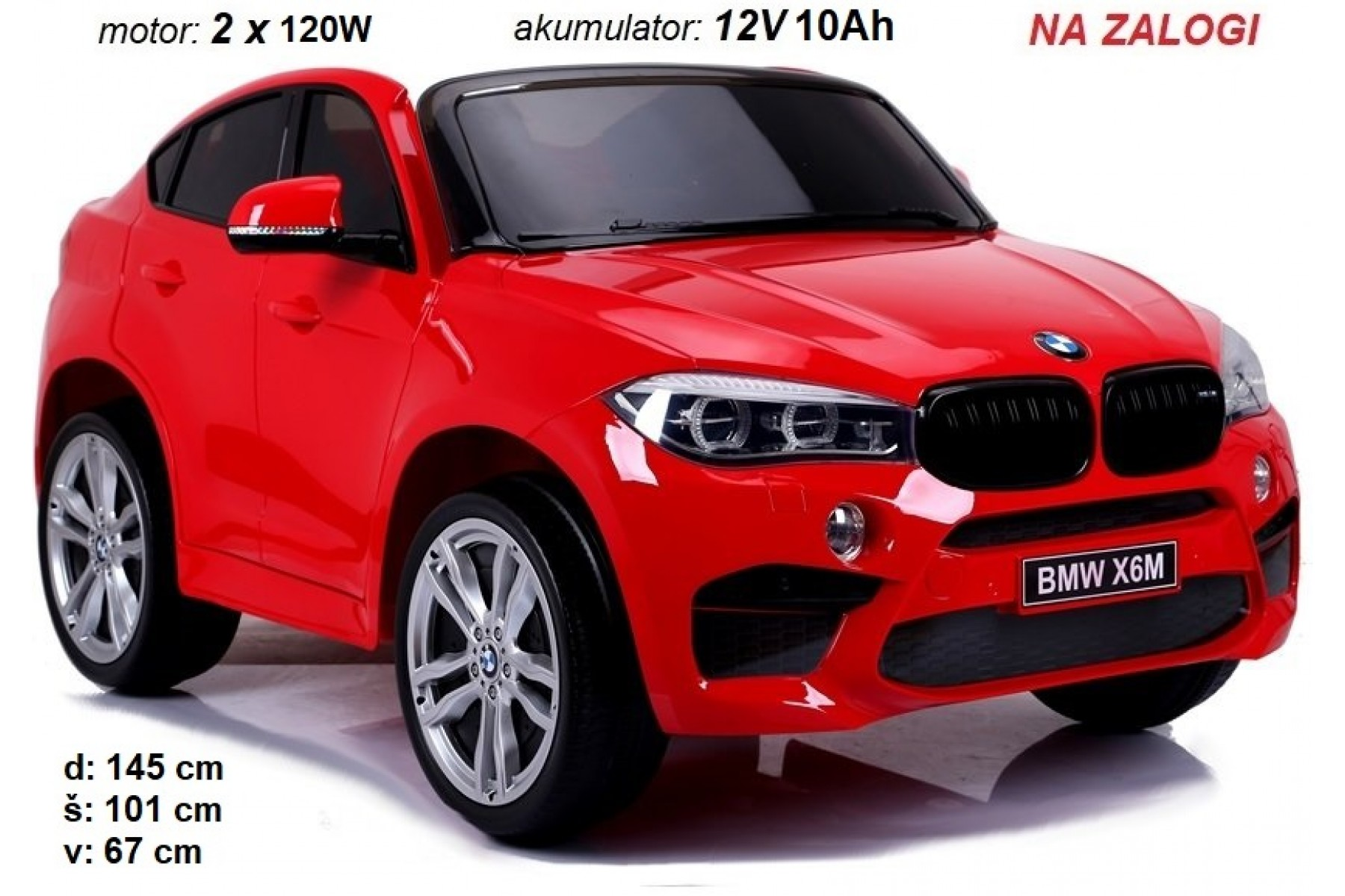 BMW X6M dvosed 2x120W (RDEČ)