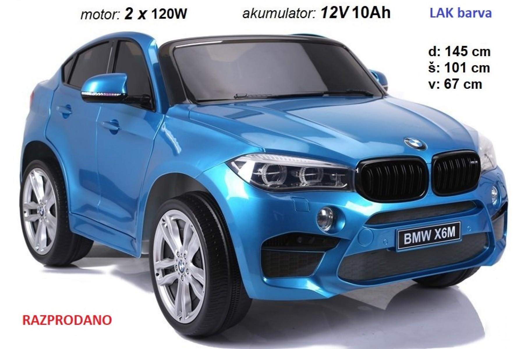 BMW X6M dvosed 2x120W LAK moder