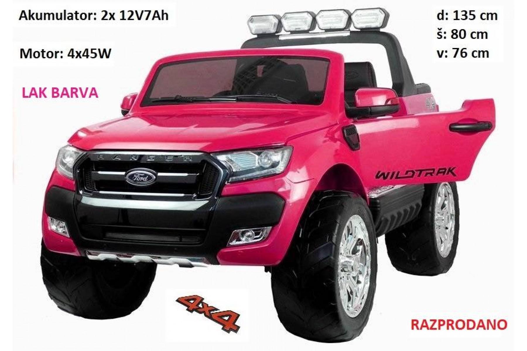Ford Ranger LAK roza barva 4x4