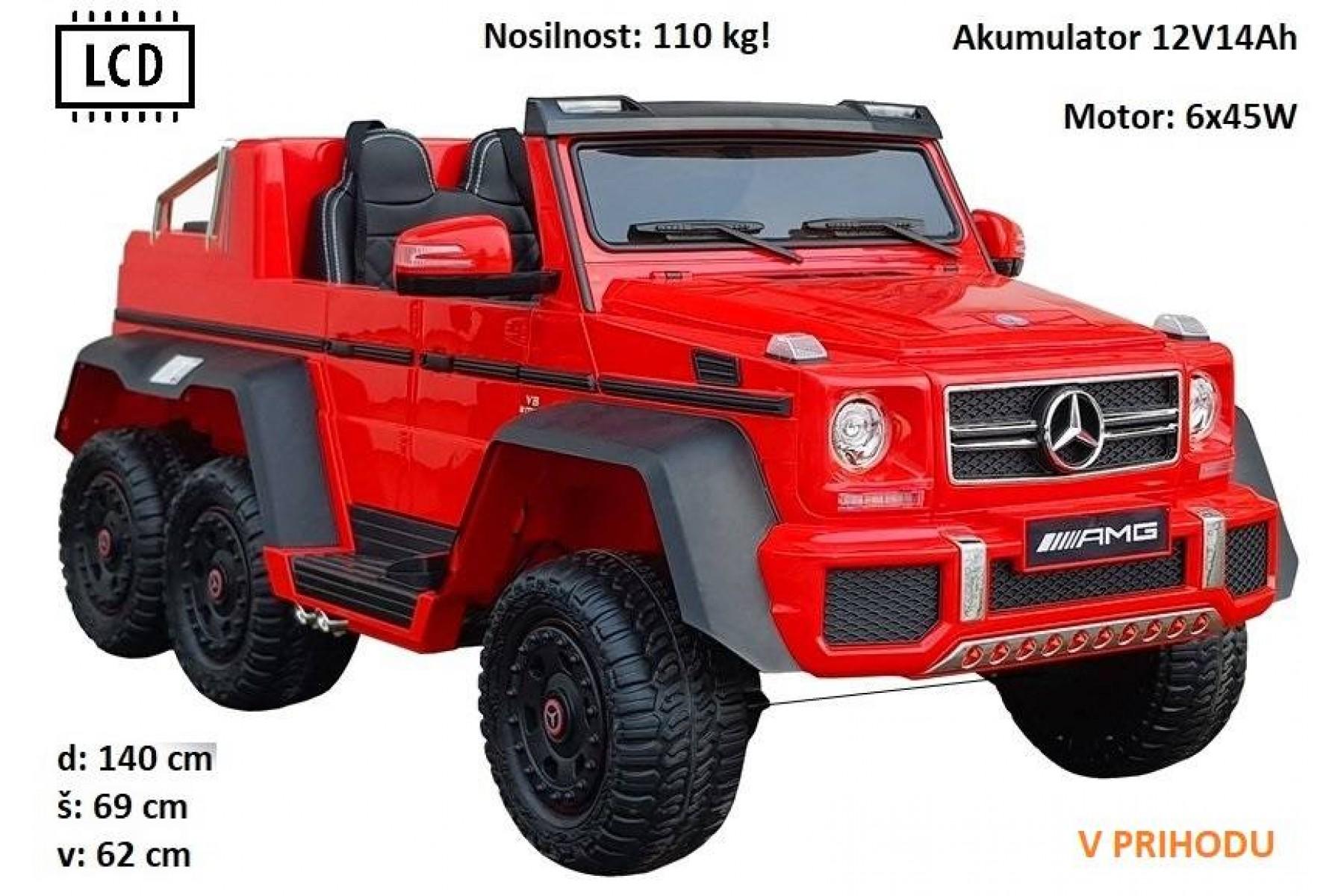 Mercedes G63 6X6 (rdeč)