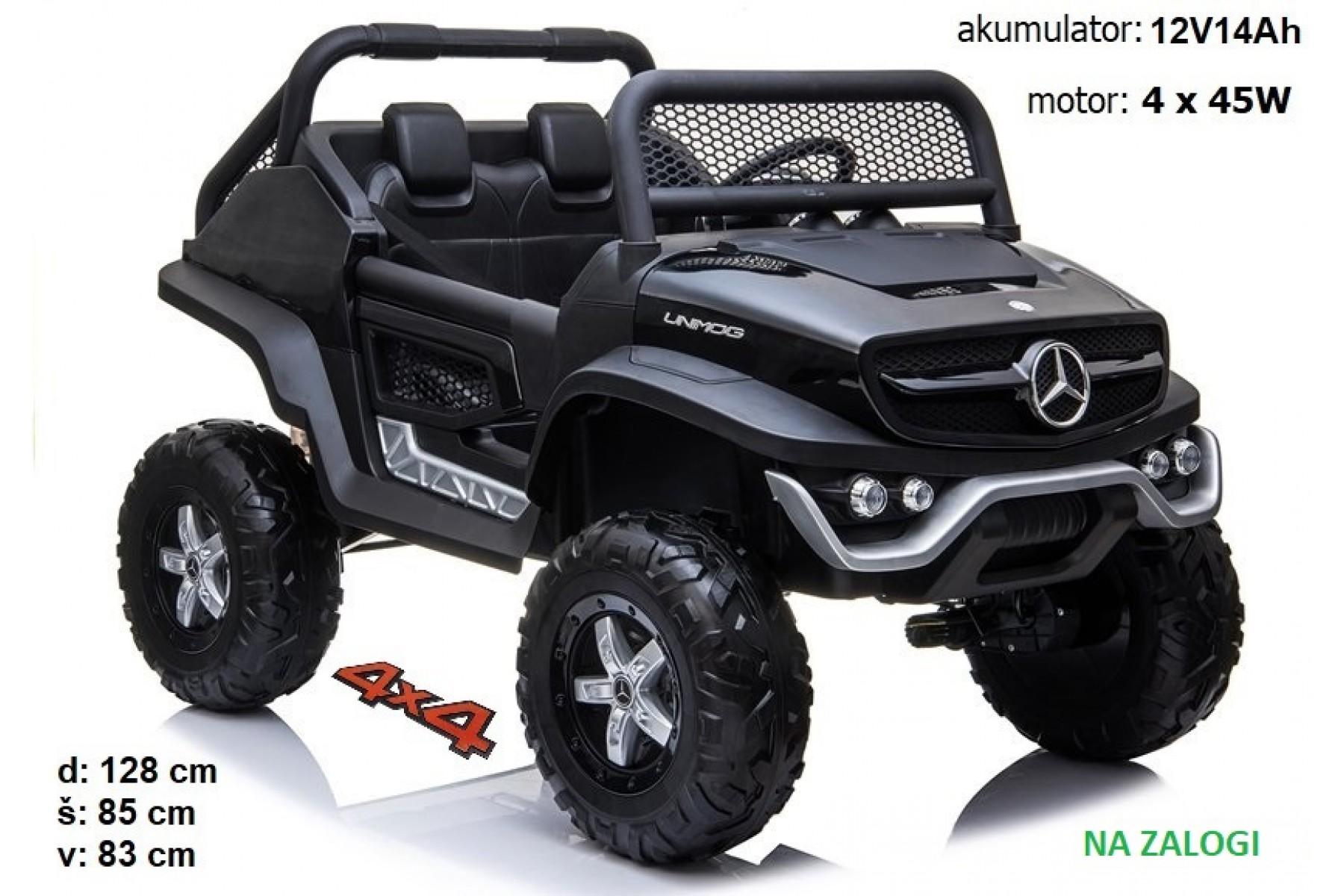 Mercedes Unimog črn