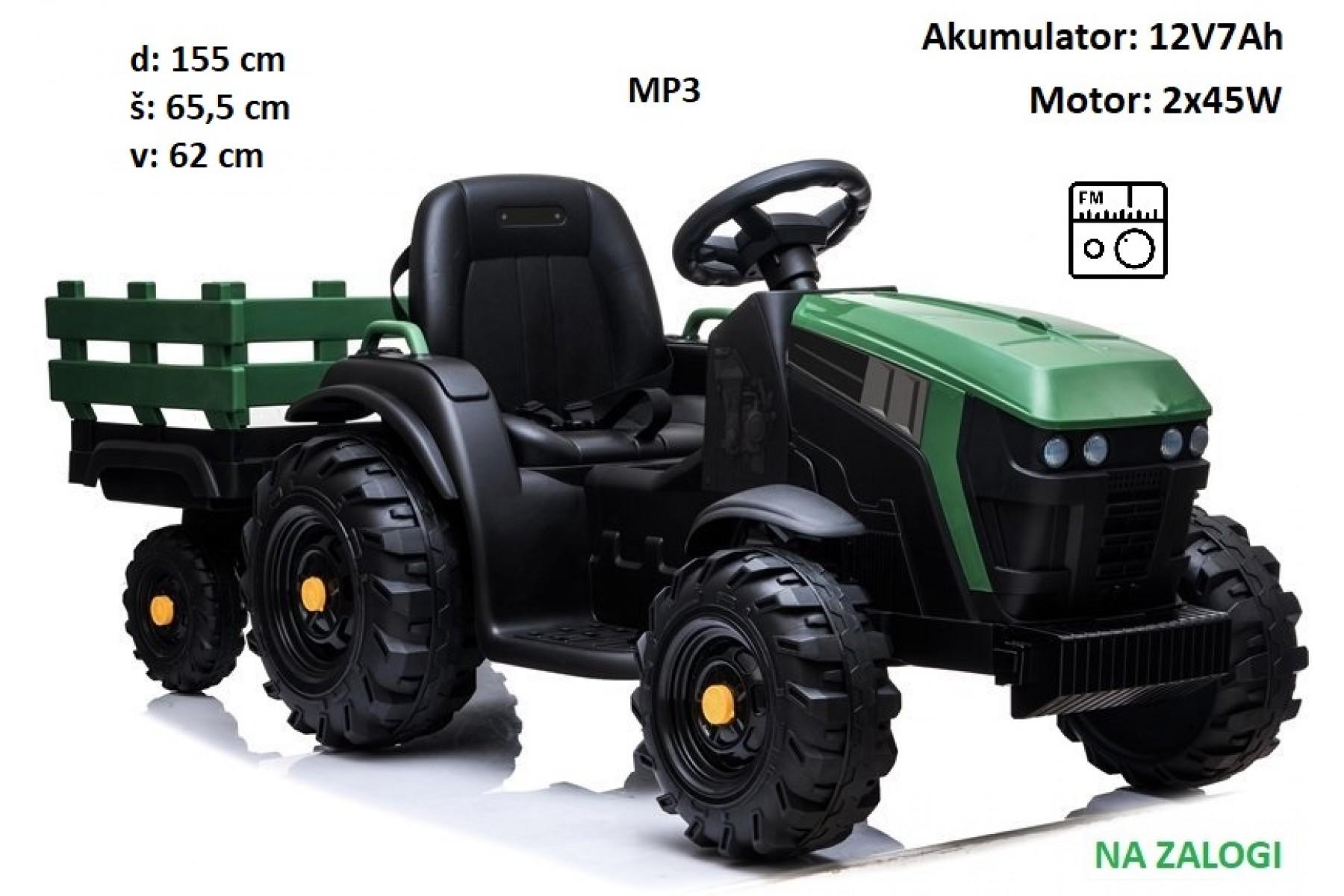 Otroški traktor BDM0925 s prikolico