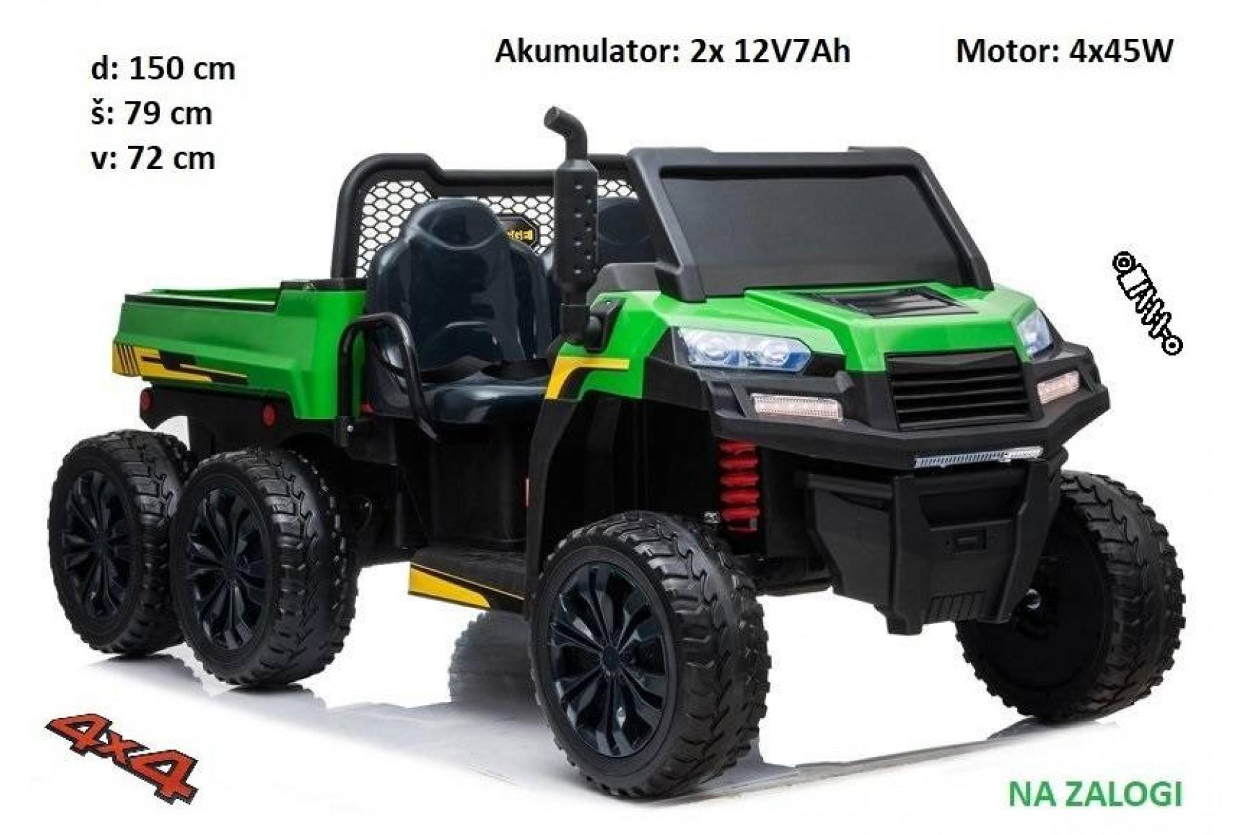Otroški traktor Farmer (zeleno črn)