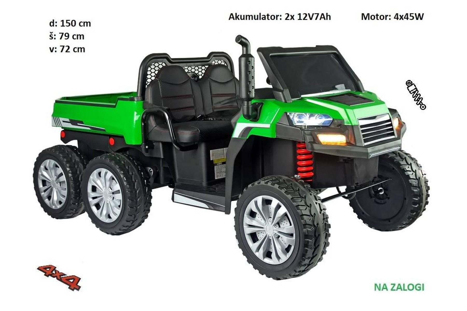 Otroški traktor Farmer (zeleno siv)