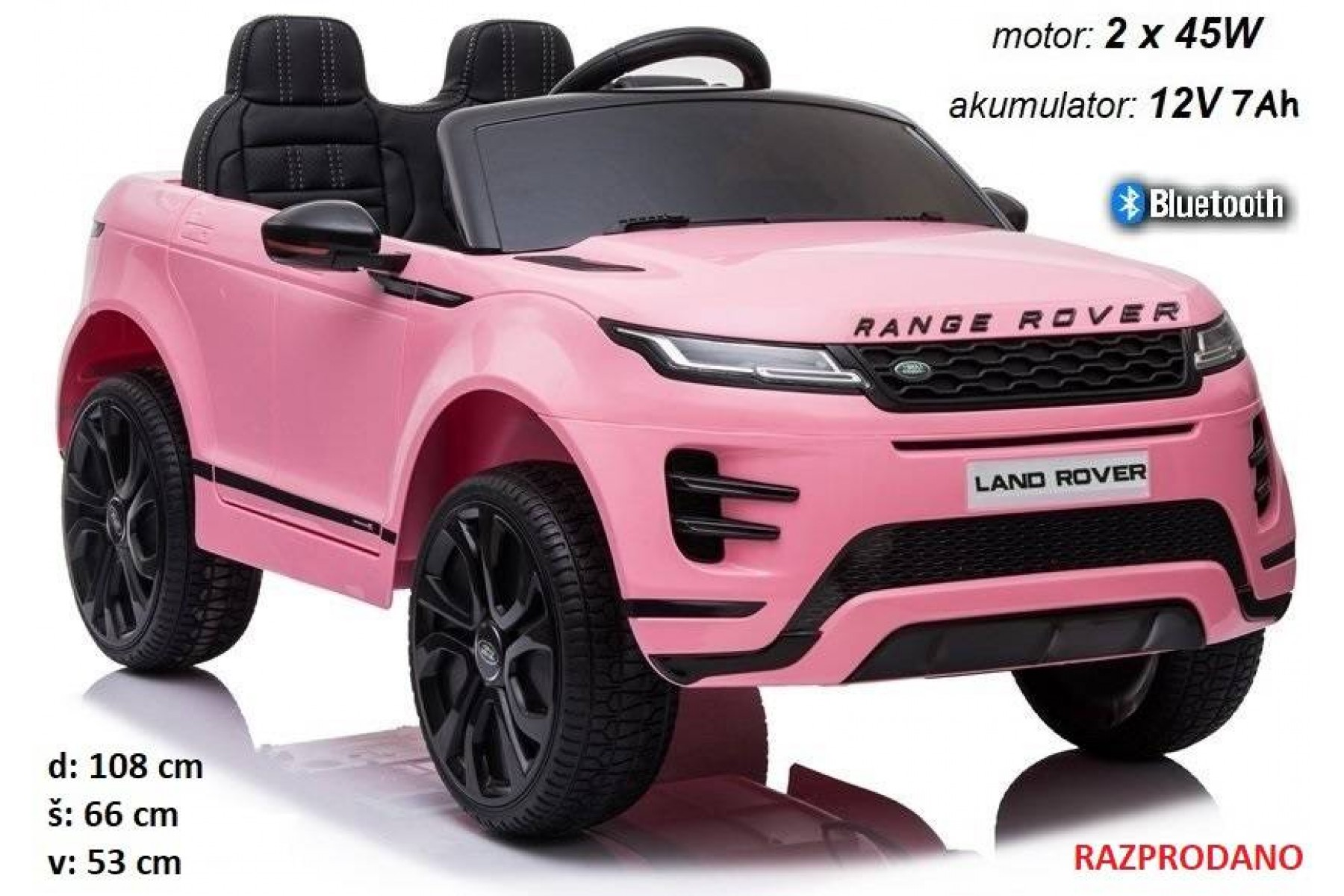 Range Rover Evoque (roza) Bluetooth
