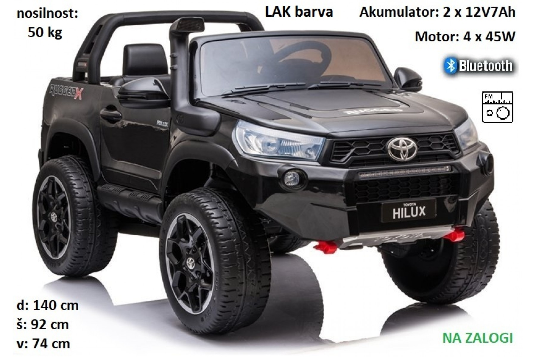 Toyota Hilux dvosed 24V, 4x4, LAK