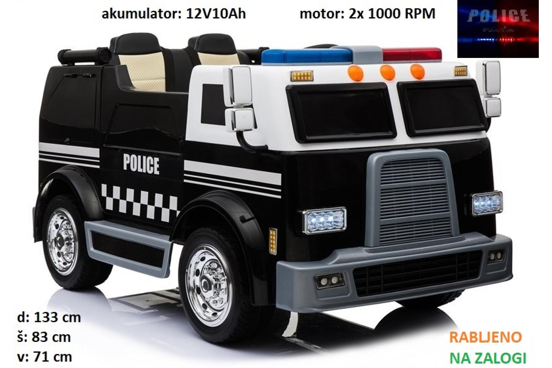 otroški POLICIJSKI tovornjak (dvosed, rabljen 4 ure)