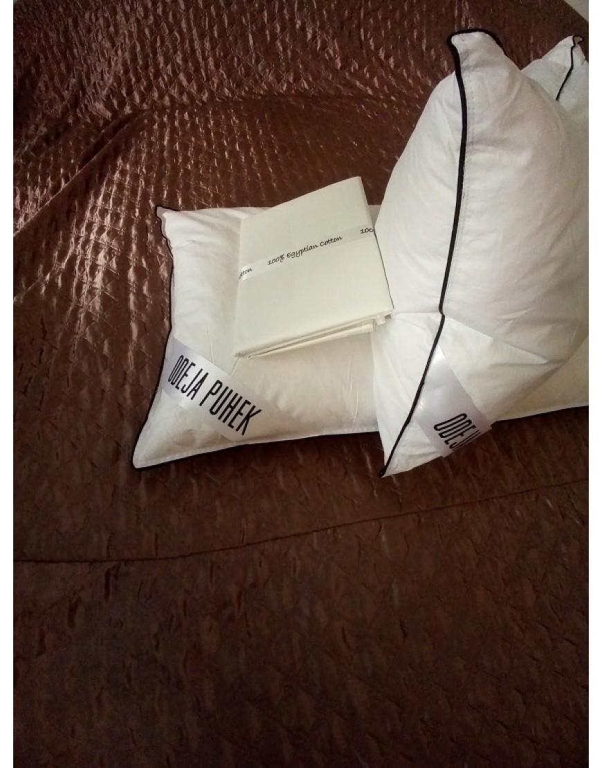 2x Vzglavnik iz gosjega puha in perja 70x50 cm